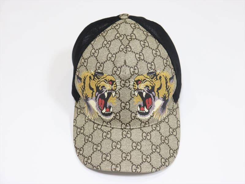 Mũ Gucci Tigers Print GG Supreme Baseball Hat